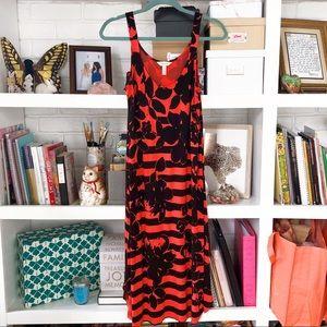 Soma Soft Tropical Stripe Midi Dress